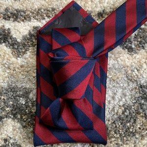 Brooks Bros Blue/Maroon Striped Classic Tie NWT